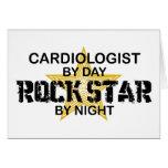 Estrella del rock del cardiólogo por noche tarjeton