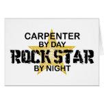 Estrella del rock del carpintero por noche tarjeta
