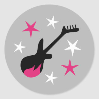 """""""Estrella del rock del chica """" Etiquetas Redondas"""