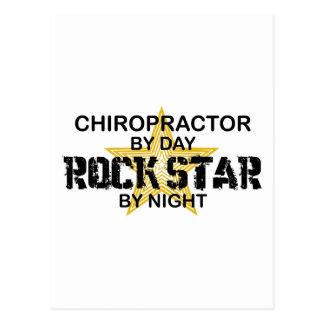 Estrella del rock del Chiropractor por noche Postal