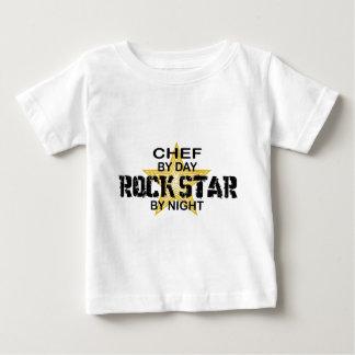 Estrella del rock del cocinero por noche camisetas