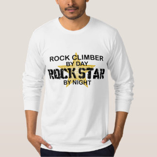 Estrella del rock del escalador de rock por noche camisas