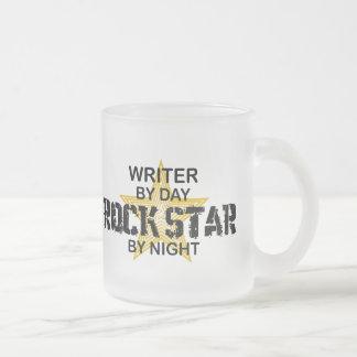 Estrella del rock del escritor por noche taza de cristal