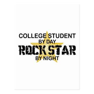 Estrella del rock del estudiante universitario por postal