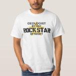 Estrella del rock del geólogo por noche playeras