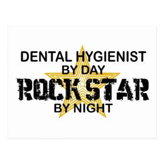 Estrella del rock del higienista dental tarjetas postales