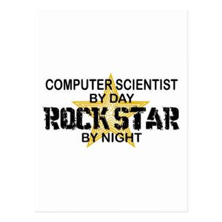 Estrella del rock del informático postales