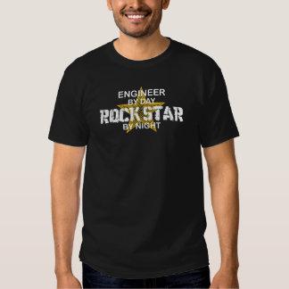 Estrella del rock del ingeniero por noche remeras