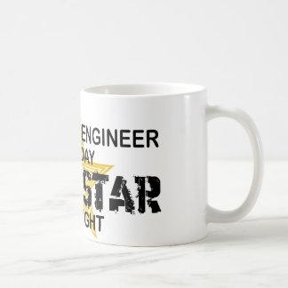 Estrella del rock del ingeniero químico taza básica blanca