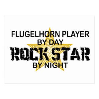 Estrella del rock del jugador de Flugelhorn por Postal