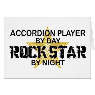 Estrella del rock del jugador del acordeón por noc tarjeta