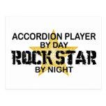 Estrella del rock del jugador del acordeón por noc postales