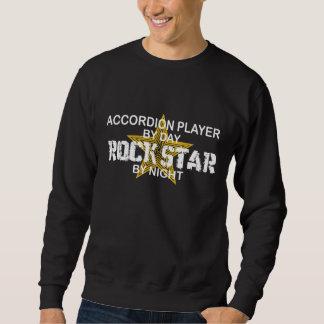 Estrella del rock del jugador del acordeón por pulover sudadera