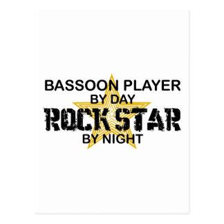 Estrella del rock del jugador del Bassoon por noch Postales