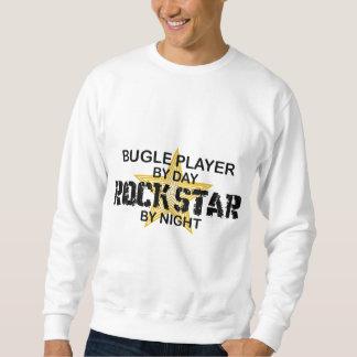 Estrella del rock del jugador del bugle por noche sudadera