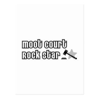 Estrella del rock del juicio simulado postales