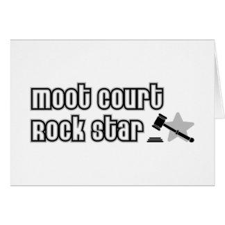 Estrella del rock del juicio simulado tarjeta de felicitación