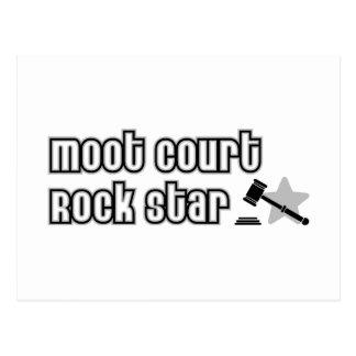 Estrella del rock del juicio simulado tarjeta postal