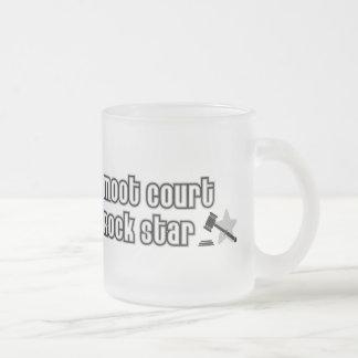 Estrella del rock del juicio simulado taza de café esmerilada
