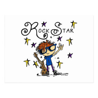 Estrella del rock del muchacho del Redhead Tarjeta Postal