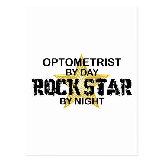 Estrella del rock del optometrista por noche postales