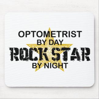 Estrella del rock del optometrista por noche tapetes de ratón