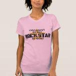 Estrella del rock del organista por noche camisetas