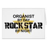 Estrella del rock del organista por noche tarjetón