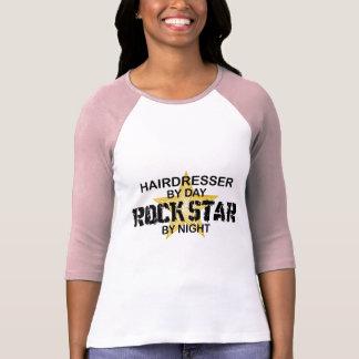Estrella del rock del peluquero por noche playera