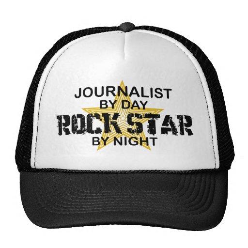 Estrella del rock del periodista por noche gorro