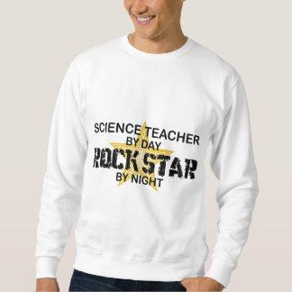 Estrella del rock del profesor de ciencias por sudadera con capucha
