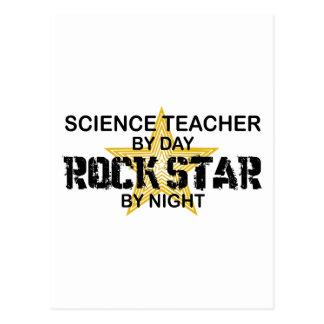 Estrella del rock del profesor de ciencias por tarjetas postales
