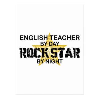 Estrella del rock del profesor de inglés tarjeta postal