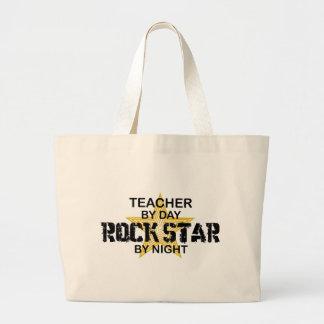 Estrella del rock del profesor por noche bolsa tela grande