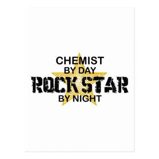 Estrella del rock del químico por noche postal