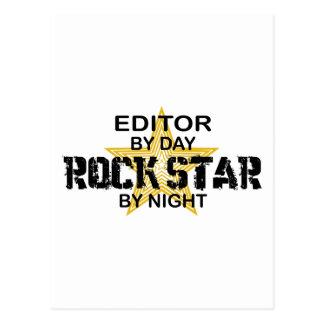 Estrella del rock del redactor por noche postales