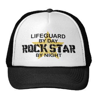 Estrella del rock del salvavidas por noche gorros