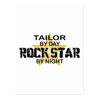 Estrella del rock del sastre por noche postal