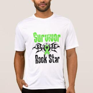 Estrella del rock del superviviente - linfoma de remeras