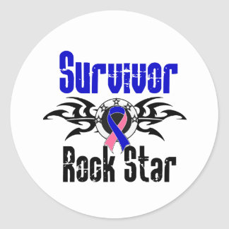 Estrella del rock del superviviente - pegatina redonda