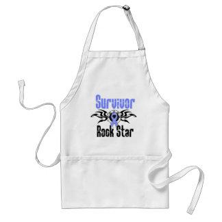 Estrella del rock del superviviente - supervivient delantal