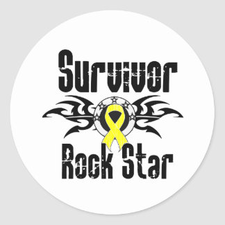 Estrella del rock del superviviente - supervivient etiqueta redonda