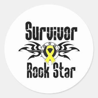 Estrella del rock del superviviente - supervivient etiquetas