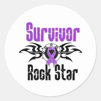 Estrella del rock del superviviente - supervivient pegatinas