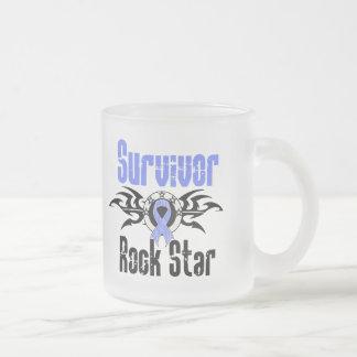 Estrella del rock del superviviente - supervivient tazas de café