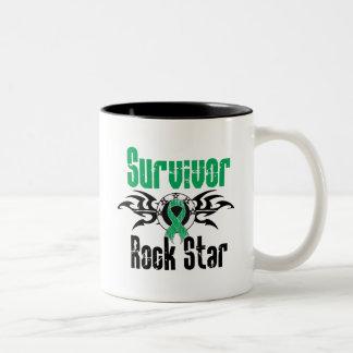 Estrella del rock del superviviente - supervivient taza de café