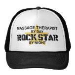 Estrella del rock del terapeuta del masaje gorros