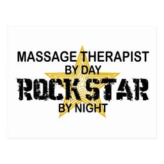 Estrella del rock del terapeuta del masaje tarjeta postal