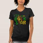 Estrella del rock del vegano camisetas