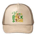 Estrella del rock del vegano gorros